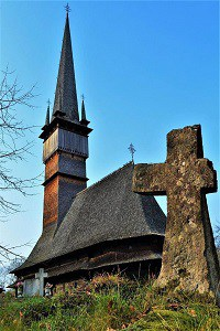 Surdesti. Wooden church.