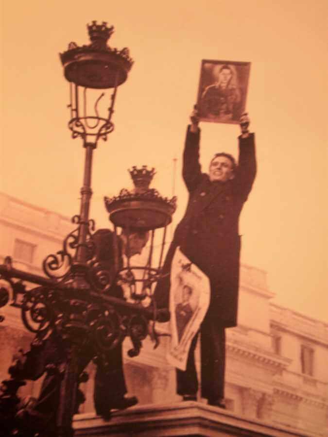 anticommunist protest bucharest romania 1945