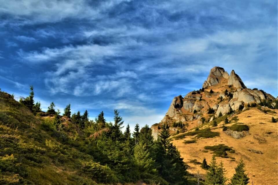 Hiking Ciucas mountains Carpathians Romania