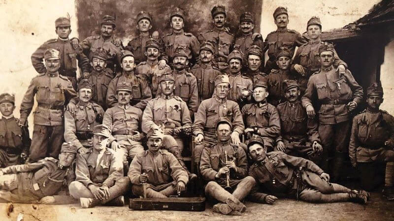 Ilie Lazar in Austro-Hungarian army, 1917, on Galicia front