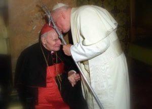 Pope John Paul II and Greek-Catholic Cardinal Alexandru Todea (Bucharest, 1999)