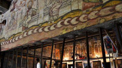 wooden church maramures desesti sfanta parascheva pictura ponegalski