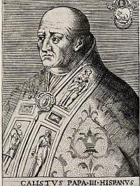 noon bell callixtus III pope