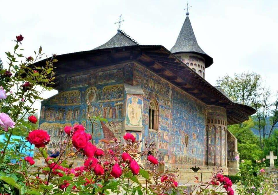 voronet monastery painted church Bucovina