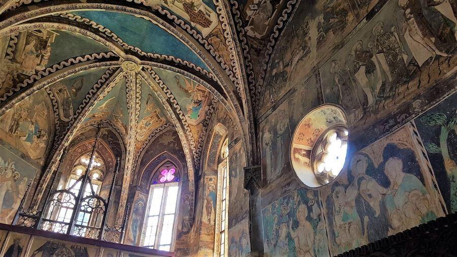 via transilvanica malancrav medieval fresco