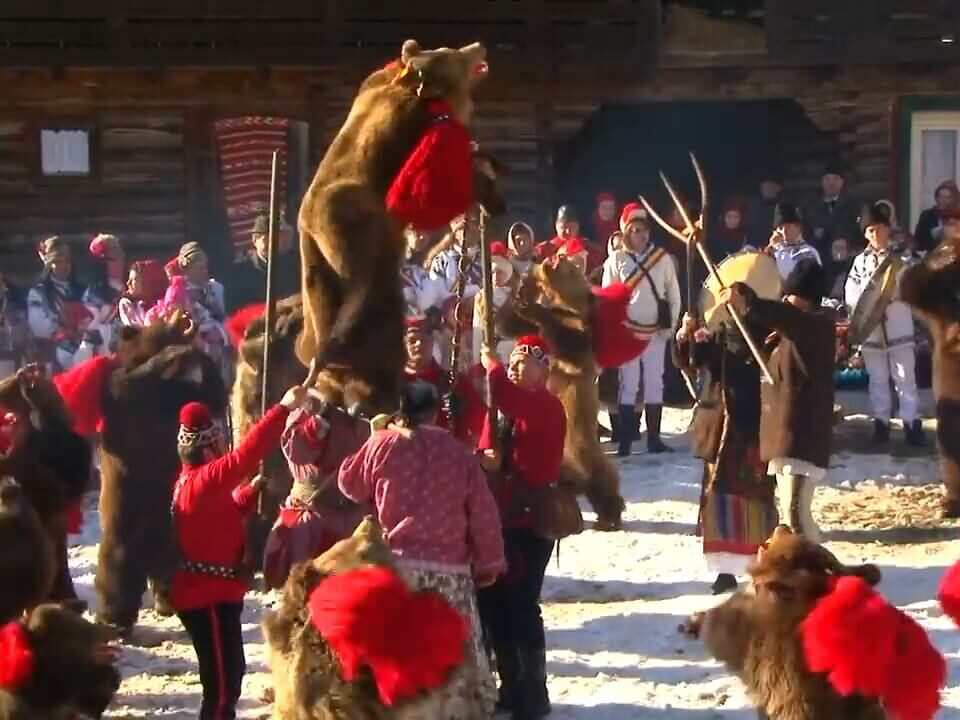 Bear Dance traditions romania moldova comanesti asau