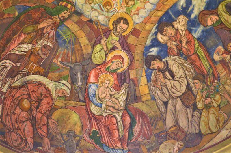 Nativity Scene Church Paint Maramures Bucharest Romania